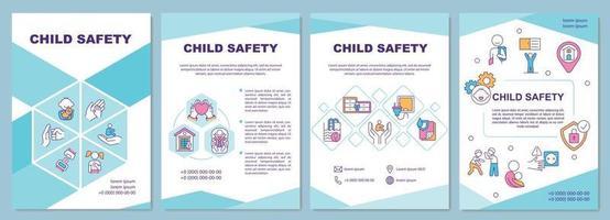 modello di brochure per la sicurezza dei bambini vettore