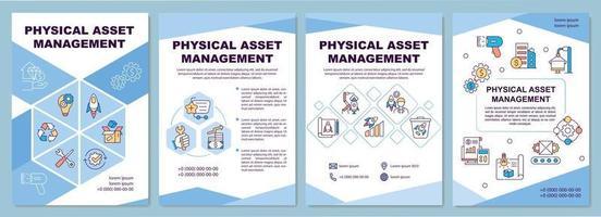 modello di brochure per la gestione delle risorse fisiche vettore