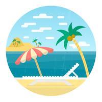 Vacanza in spiaggia vettore