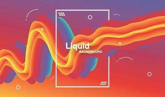 disegno di sfondo di colore liquido. poster moderno flusso colorato. illustrazione vettoriale