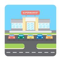 Illustrazione del supermercato vettore
