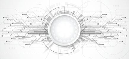 fondo astratto di progettazione 3d con struttura del circuito di linea e punto tecnologia. ingegneria moderna, futuristico, concetto di comunicazione scientifica. illustrazione vettoriale