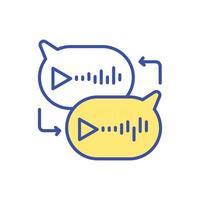 icona di colore RGB per la messaggistica vocale vettore