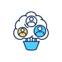 coltivare diverse icone di colore rgb squadra vettore