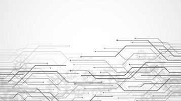 sfondo astratto con struttura del circuito di tecnologia. illustrazione della scheda madre elettronica. comunicazione e concetto di ingegneria. illustrazione vettoriale
