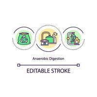 icona del concetto di digestione anaerobica vettore