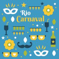 vettore di carnevale di Rio