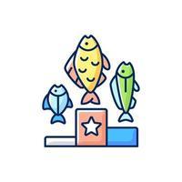 icona di colore rgb torneo di pesca vettore