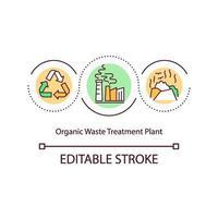 icona del concetto di impianto di trattamento dei rifiuti organici vettore