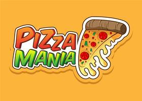 mania della pizza vettore