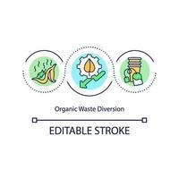 icona del concetto di diversione dei rifiuti organici vettore