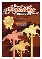 Vettore di invito del partito di Kentucky Derby