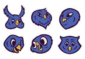 Logo vettoriale gratuito gufo