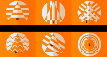 Coni d'arancia vettore