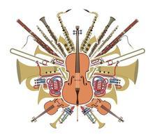 set di strumenti orchestra vettore