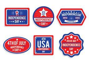 Vettori di Badge Giorno dell'Indipendenza