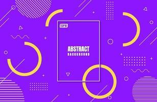 gradiente di colori viola moderno astratto con forma geometrica per la progettazione di sfondo aziendale vettore