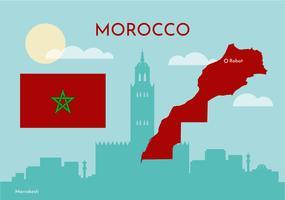 Marocco vettoriale