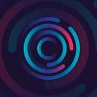 disegno dell'icona di connessione creativa. dati di rete circolari. struttura geometrica punto e linea di connessione. illustrazione vettoriale