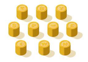 Vettore della raccolta della moneta di valuta