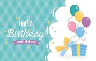 carta di celebrazione di buon compleanno vettore