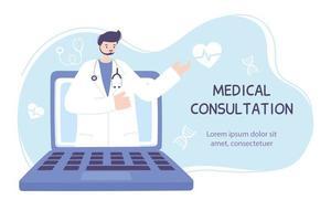 modello di banner di assistenza sanitaria online vettore