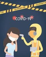 controllo della temperatura per il coronavirus vettore