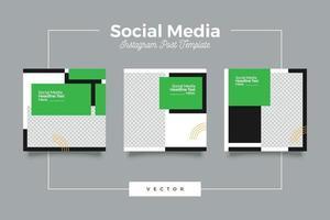 set di banner modello moderno social media bicromia vettore