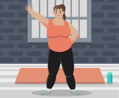 vettore di donna grassa
