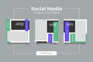 modello di post sui social media di marketing vettore