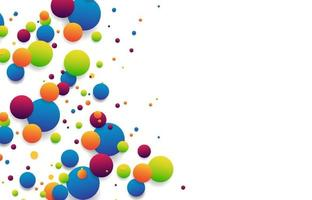 collegamento astratto delle sfere a strisce colorate isolato su priorità bassa bianca per banner, copertina, brochure. illustrazione vettoriale