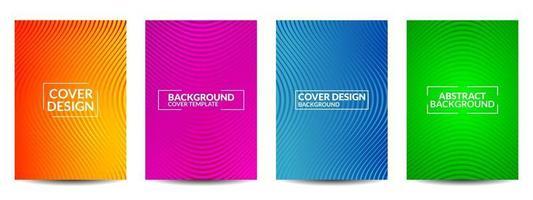 design minimale delle copertine. vettore