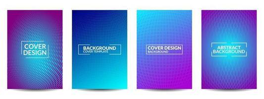 design minimale delle copertine vettore