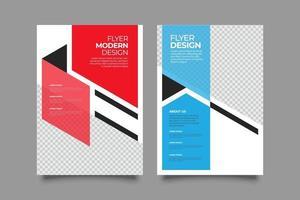 set di modelli di webinar moderno volantino astratto rosso e blu vettore