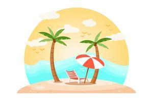 Vettore di paesaggio tropicale