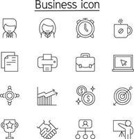icona di amministrazione aziendale impostata in stile linea sottile vettore