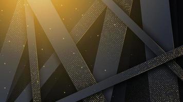 sfondo astratto con finiture in oro di lusso. vettore