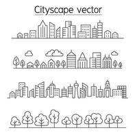 progettazione grafica dell'illustrazione di vettore di paesaggio urbano