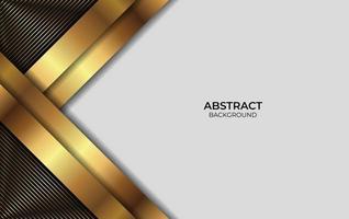 sfondo astratto oro e design nero vettore