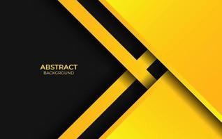 design astratto stile giallo e nero vettore