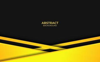 disegno astratto giallo e nero vettore