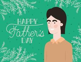felice giorno di padri card vettore