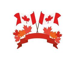 foglie di acero e disegno di simbolo del canada vettore