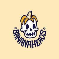 illustrazioni di logo di teste di banana vettore