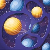 pianeti del sistema solare design illustrazione vettoriale