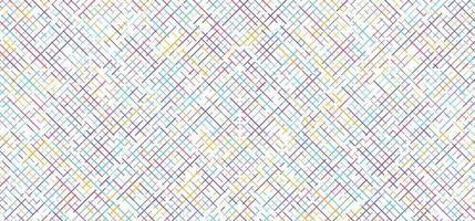 astratto colorato giallo, blu, rosa, viola linee tratteggiate diagonale modello di griglia su sfondo bianco. vettore