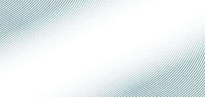 modello astratto di linee d'onda blu su sfondo bianco con spazio per il testo vettore
