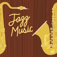 poster del giorno del jazz con sassofono vettore