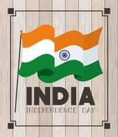 felice giorno dell'indipendenza dell'india vettore