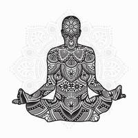 mandala di yoga. elementi decorativi vintage. modello orientale, illustrazione vettoriale. vettore